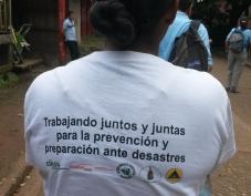 População e comunidades escolares estão preparadas para desastres naturais em Bluefields, Nicarágua