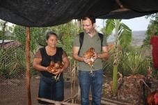 Eu cuido das minhas galinhas, porque as minhas galinhas cuidam da minha família!