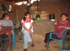 María Felipe Morales, a beneficiary of a food security project